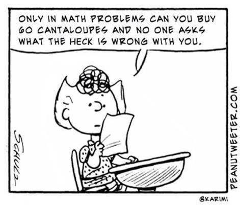 peanuts math cartoon