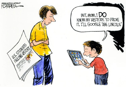 "Jeff Koterba color cartoon for 6/16/2011 ""History"""