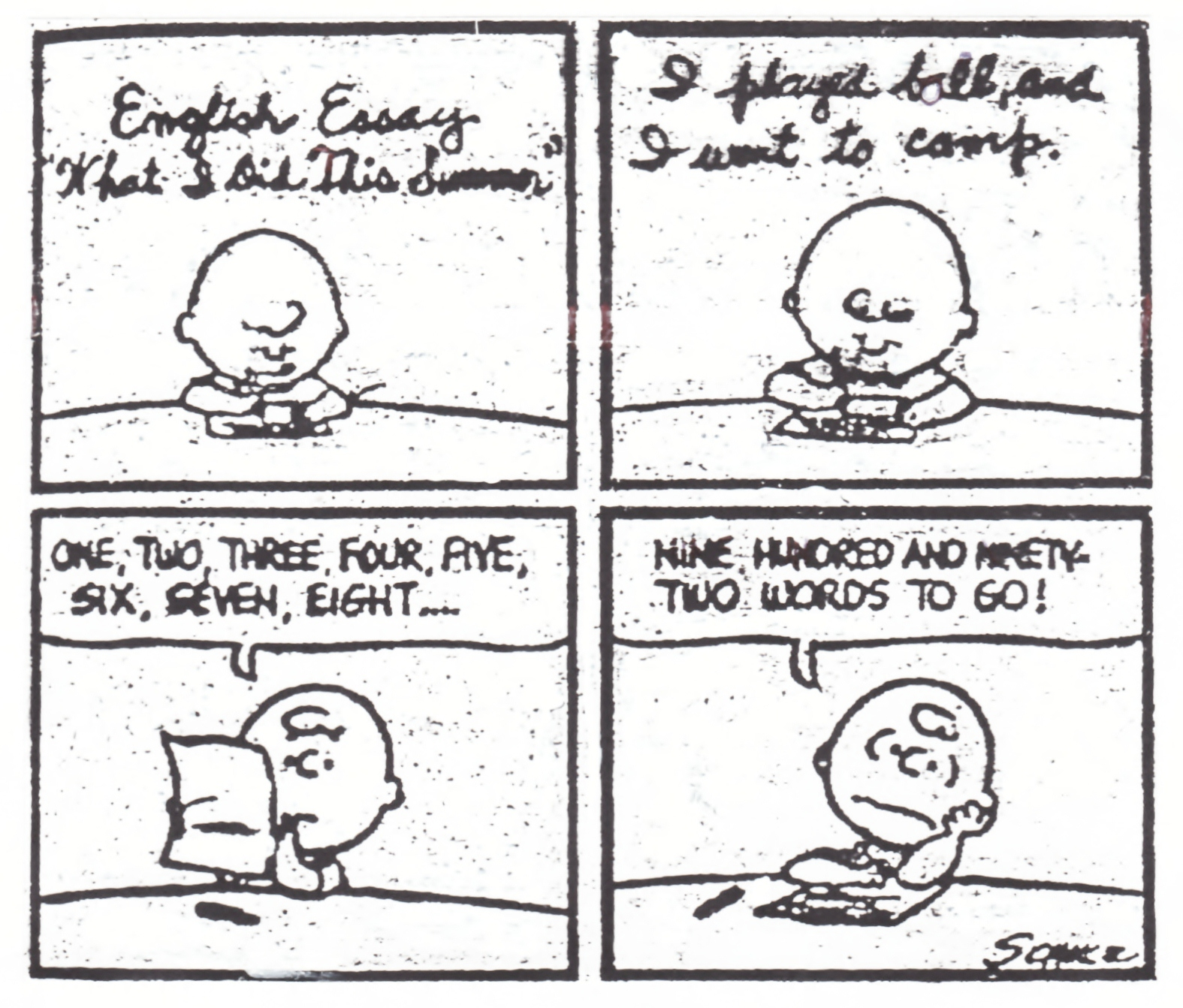 cartoons on reading and writing larry n on school reform and peanuts essay