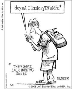 texting-writing-skills-cartoon