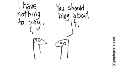 Blogging, cartoon