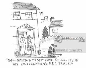 'Jason goes to a progressive school. He's in his kindergarten's MBA track.'