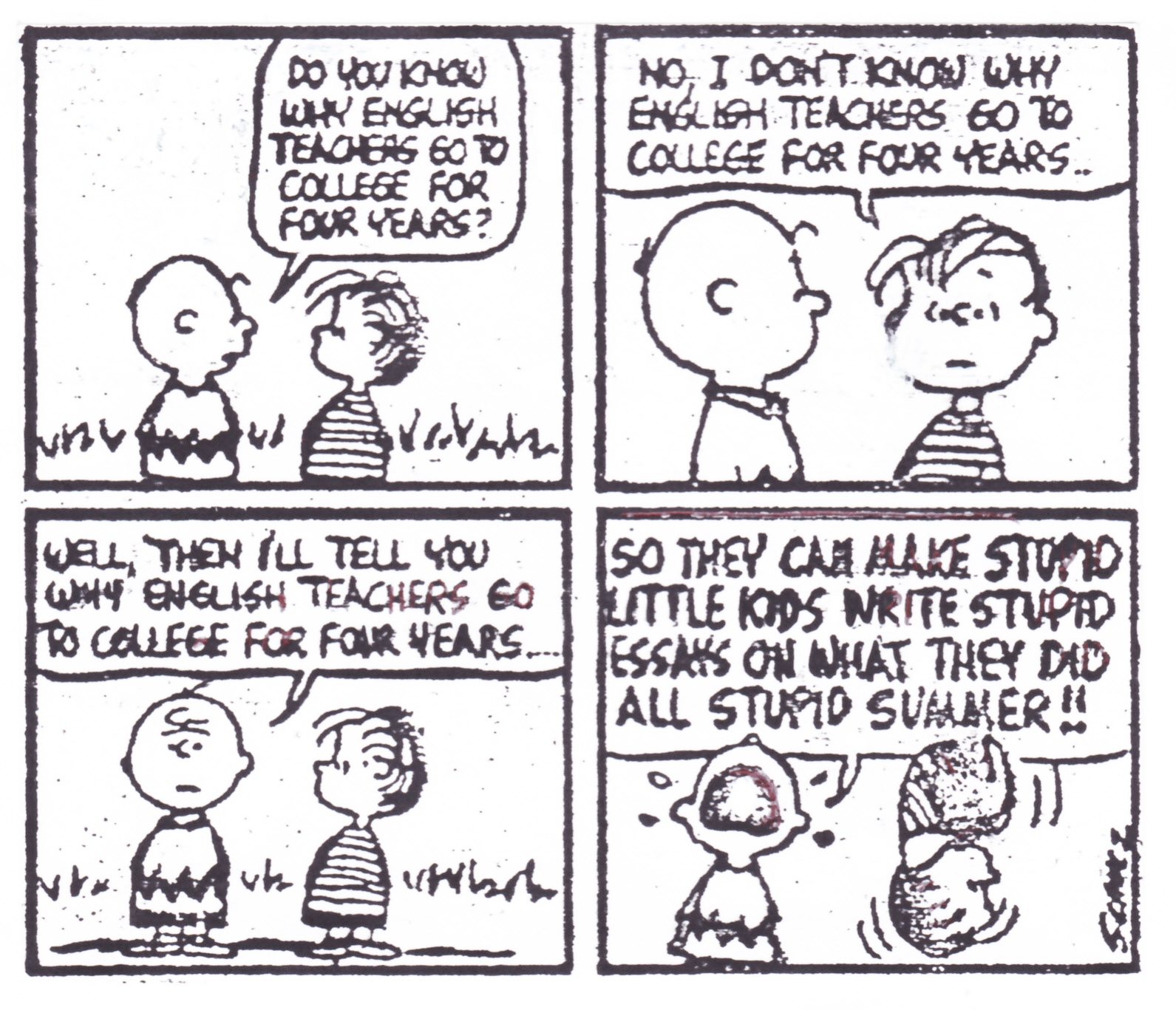 larry n on school reform and classroom practice page  peanuts teachers