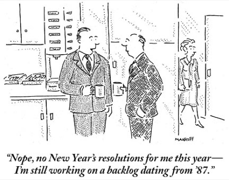 Image result for cartoon new years resolutions