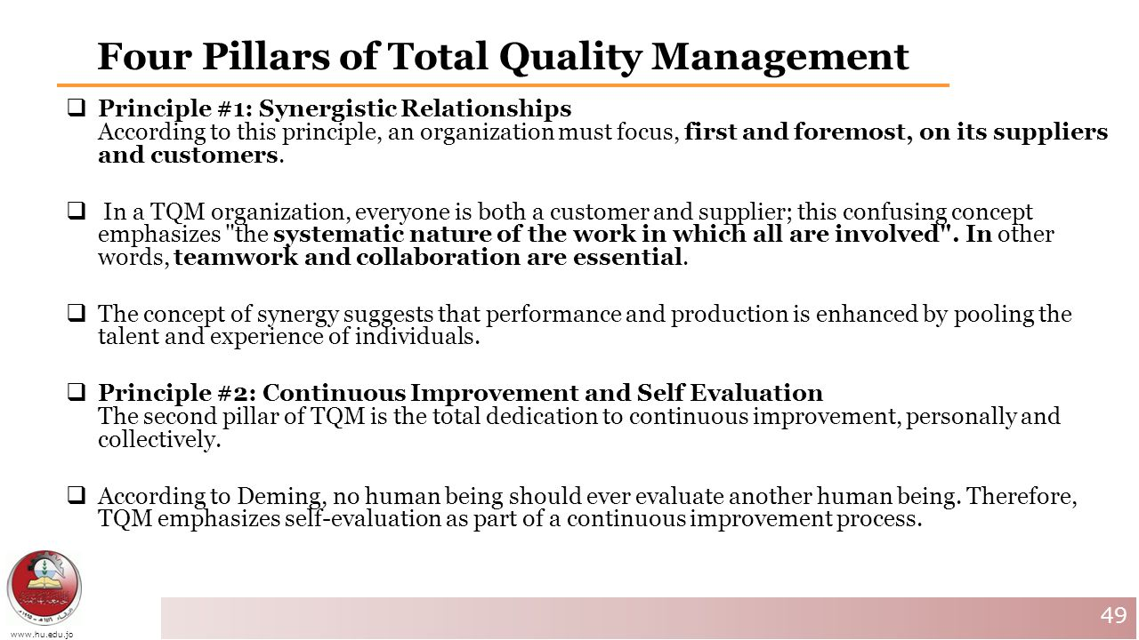 Total quality management 7