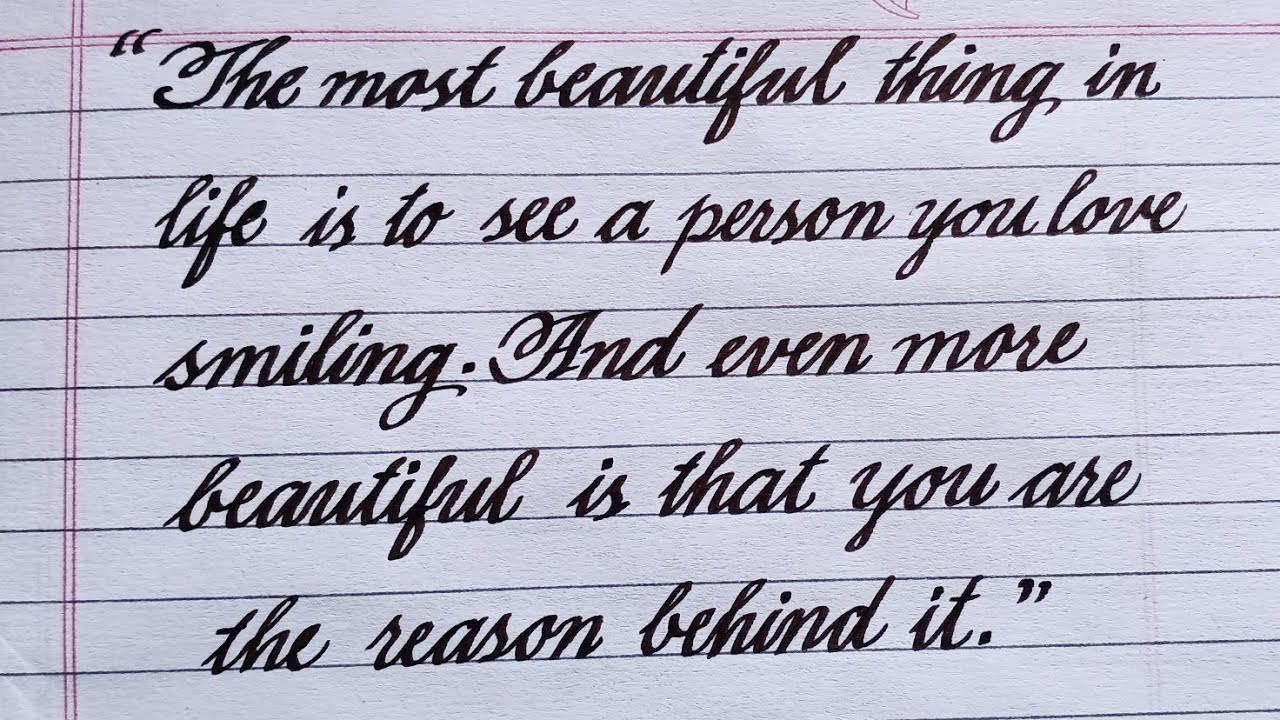 Whatever Happened To Cursive Writing?